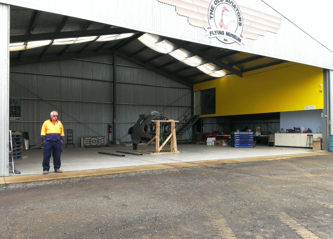 Brian, the aerodrome safety officer, and the almost empty hangar